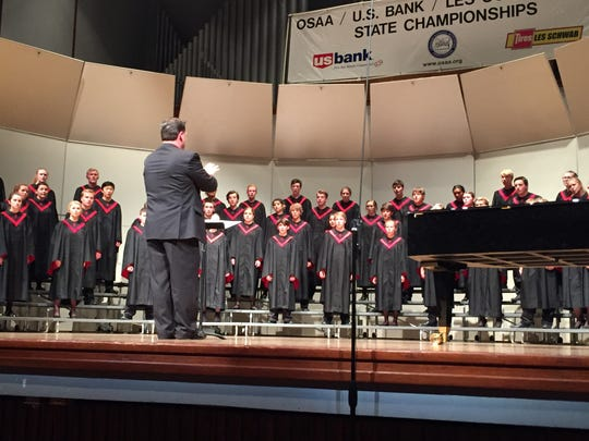 Central High School of Independence under the direction of Jeff Witt performs at the OSAA 5A Choir State Championships in Newberg on Friday, May 6, 2016.