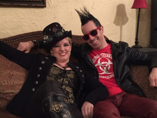 Christie Oakes, aka Bella D., with her music partner,