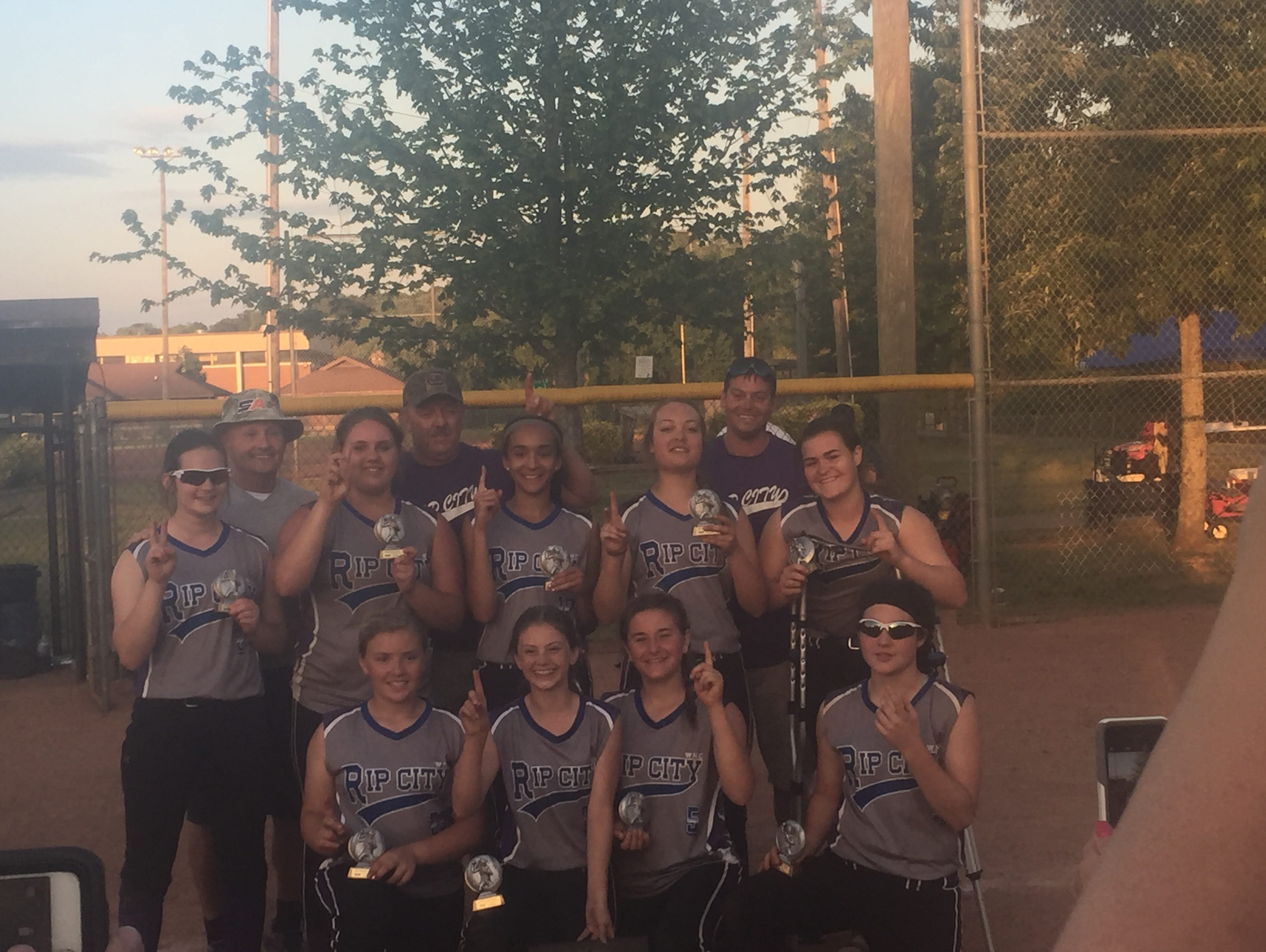 The Western North Carolina Rip City 14 and under softball team won the Top Gun Mothers Day Bash tournament on Sunday in Kings Mountain.