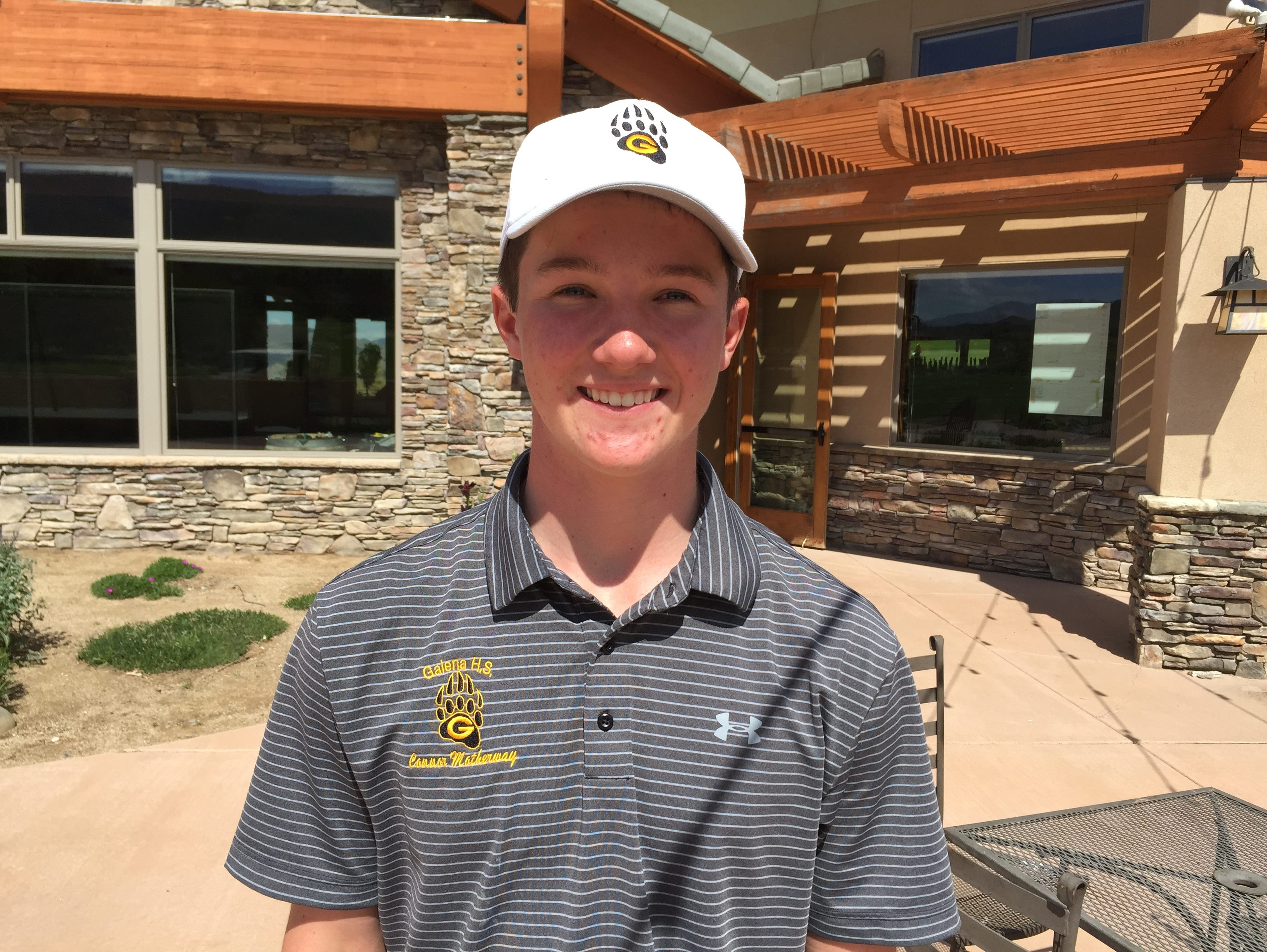 Galena's Connor Motherway won the Northern Division golf Regional on Tuesday.