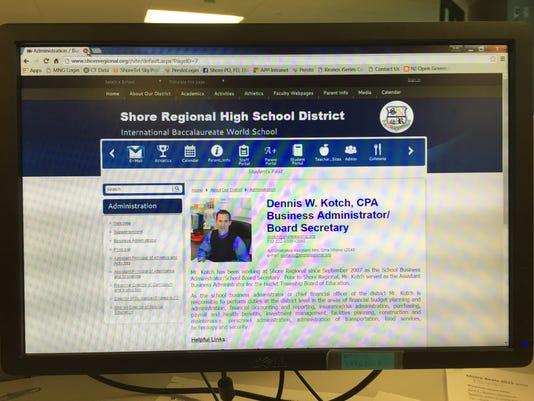 Screenshot: Shore Regional High School District