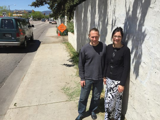 Kevin Harper and Anne Cleary of 1535 Remington St. continue to disagree with Fort Collins officials about how plans to rebuild the intersection of Prospect Road and College Avenue should impact their property.