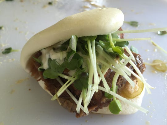 Brisket steam buns were one of the most popular dishes at the 2015 Dig In: A Taste of Indiana local food festival. J. Ford's Black Angus restaurant in Terre Haute was responsible for the Sample more of what the chef is up to at Prairie Plates event 6 to 8:30 p.m. at Conner Prairie.