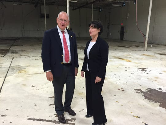 CannaMed's Jeff Siskind, managing director, and Angeline Nanni, president and CEO, hope to begin growing medical marijuana in Hebron as early as this summer.