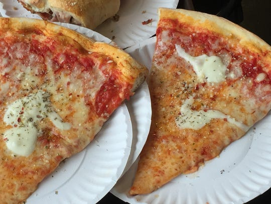 Slices at Joey's House of Pizza have blobs of tasty