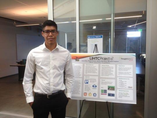 Alonzo Mendoza, 23, will work on web design and software