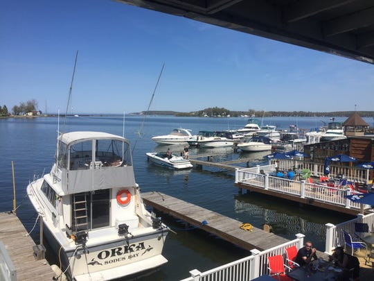 Located in Sodus Point, Captain Jack's Goodtime Tavern offers a picturesque deck, a place to dock your boat, and over 50 craft beer options.