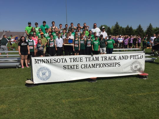 The Holdingford girls track and field team finished fourth in the state Class A true-team championships Saturday at Stillwater.