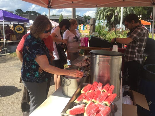 Icy watermelon and cool drinks at Taloofa Fest Saturday.