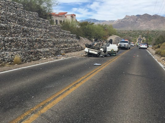 Pima County deputy injured in rollover collision
