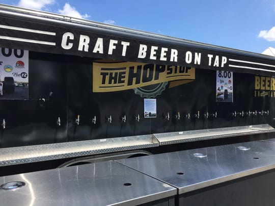 The Hop Stop at Turn One and Pagoda Plaza offer a selection of locally-made craft beer.