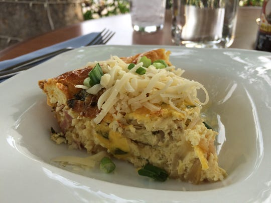 The Quiche Lorraine at The Granary Café features eggs,
