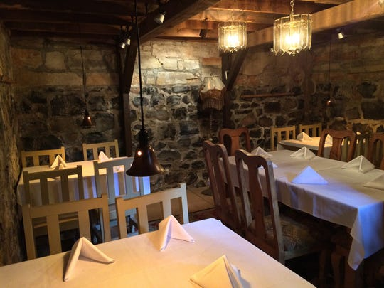 The cellar of The Granary Café now has dining tables