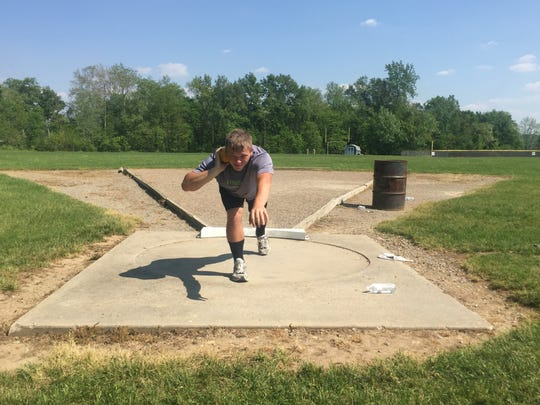 Sophomore Kyle McClain will compete in the shot put