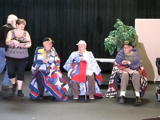 Veterans receive Quilts of Valor May 25, 2016
