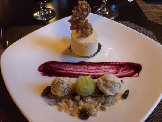 Peanut-butter mousse served at the Rabbit Hill Inn in Lower Waterford.