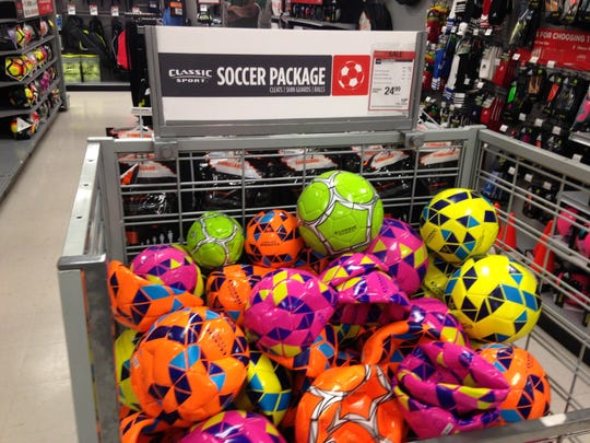 Look for good deals as Sports Authority closes its stores across the United States, including these soccer balls  at the Merritt Island location.