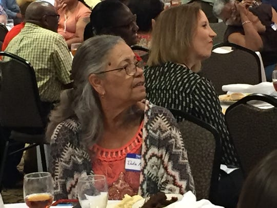 Delia Penton attends a foster parent appreciation banquet.