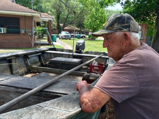 Hoyt Thompson, 81, of Apalachicola, remembers a hurricane from his childhood that tore up and flooded the small town.