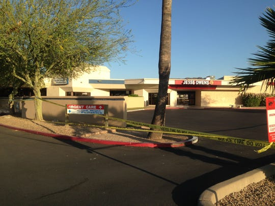 Two men with gunshot wounds pulled up to this urgent care facility Friday evening, police say.