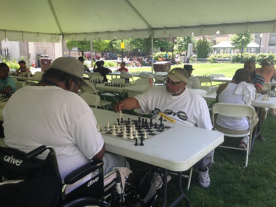Participants in Chess on the Square ranged in age from 9 to 69.