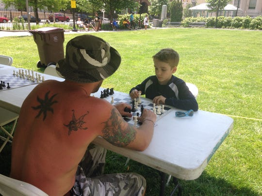 At the Chess on the Square tournament, many times the younger players came out on top.