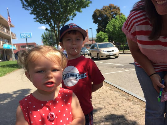 Bailey and Cameron Mallery were excited to see the cars go by at the parade.