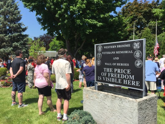A service was held in the Veterans Memorial Park in Endicott Monday.
