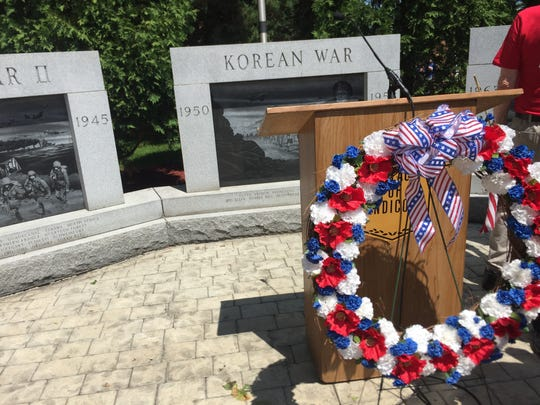 A service was held in Veterans Memorial Park in Endicott on Monday.