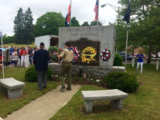 American Legion Commander John Eagen of Hyde Park places