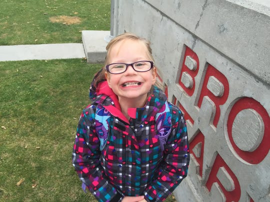 April Heide at Brown Elementary School last fall.