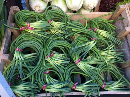 Garlic scapes from Grade A Farms
