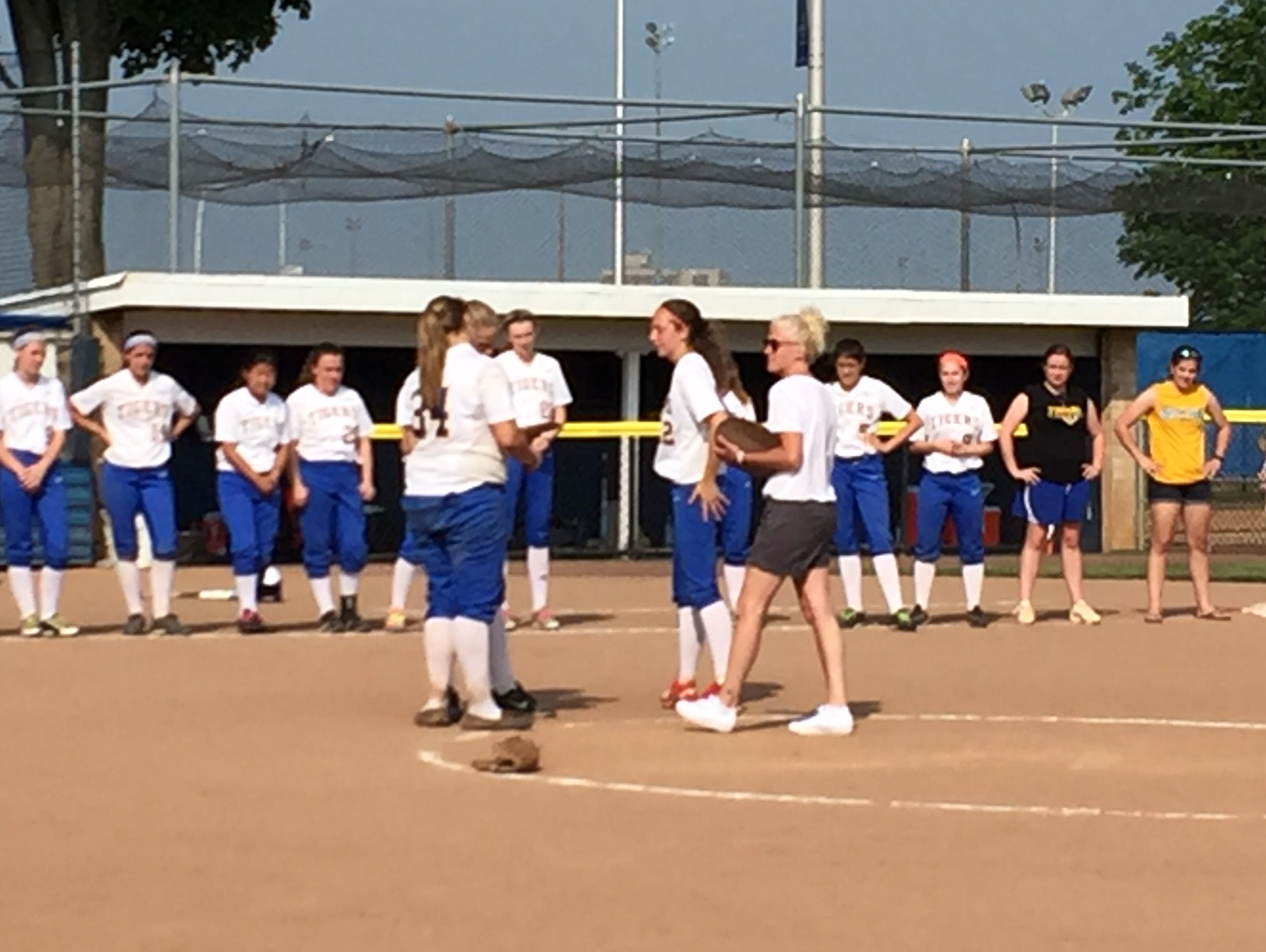 North Salem receives the runner up plaque as they lose to Section 8's East Rockaway 3-1 in the Class C softball regional final Saturday at Hofstra University