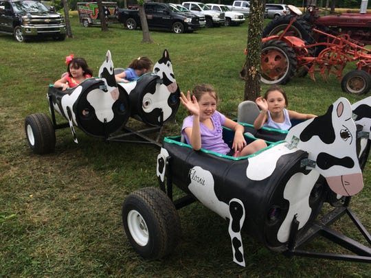 The Barrel Festival in Coopertown offered fun rides for kids.