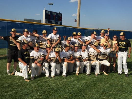 Daleville players joke around while posing for pictures