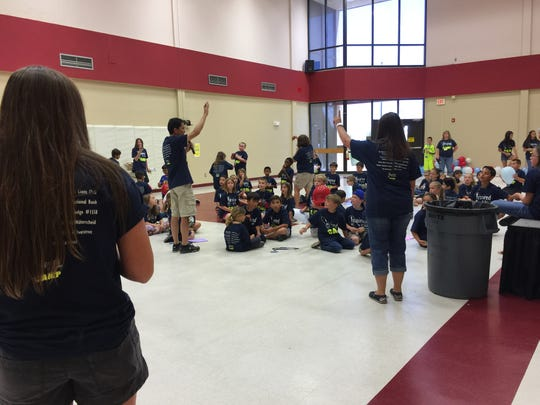 The Inspired by Science camp is for four days, 9 a.m. - noon. The camp opened shortly after school ended for the academic year.