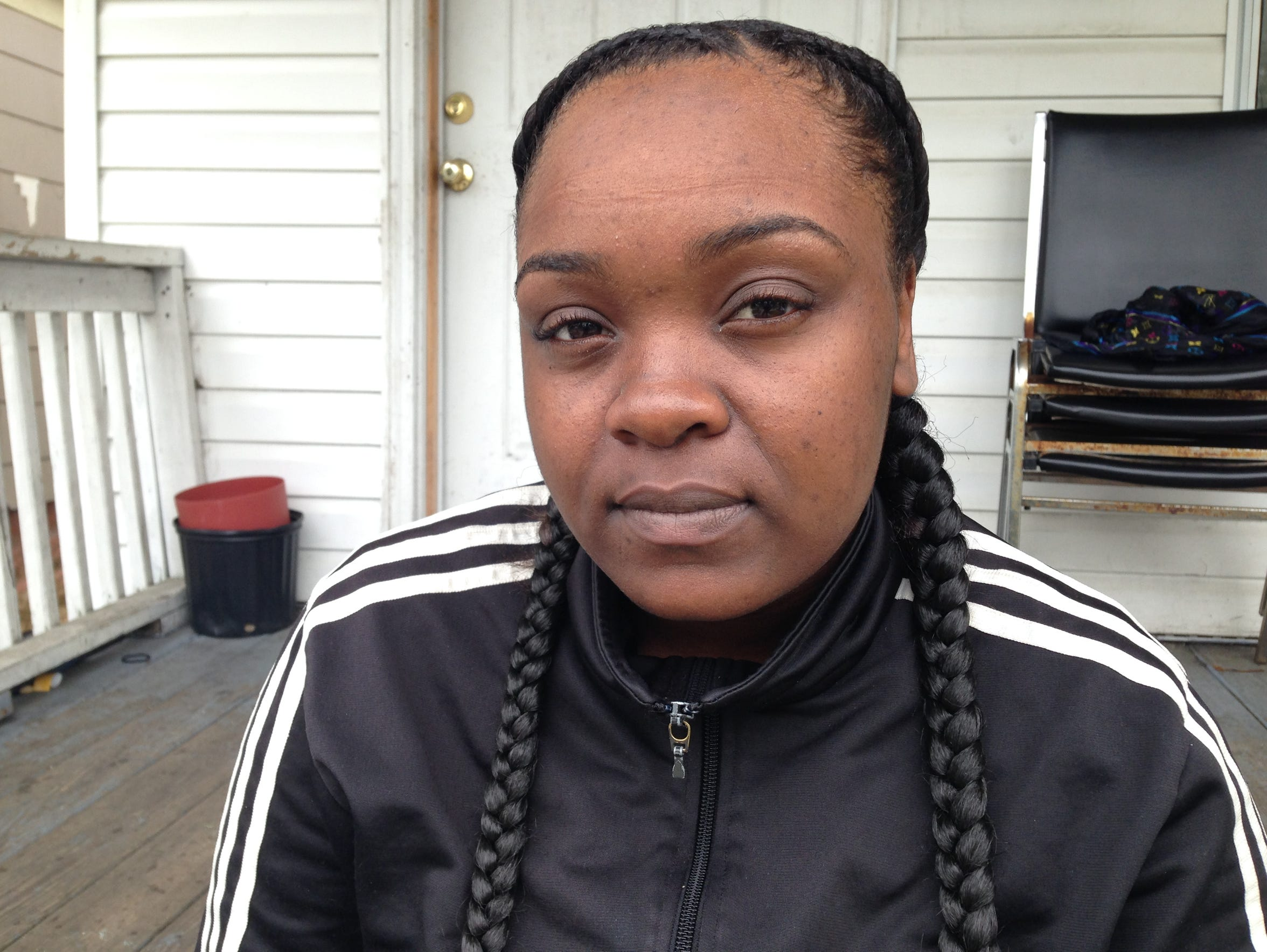 Shenise Bellamy couldn't bear to sit on her front porch