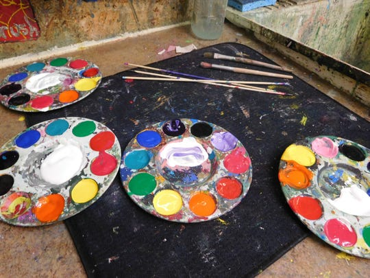 Campers can explore a variety of art materials at Brush & Palette