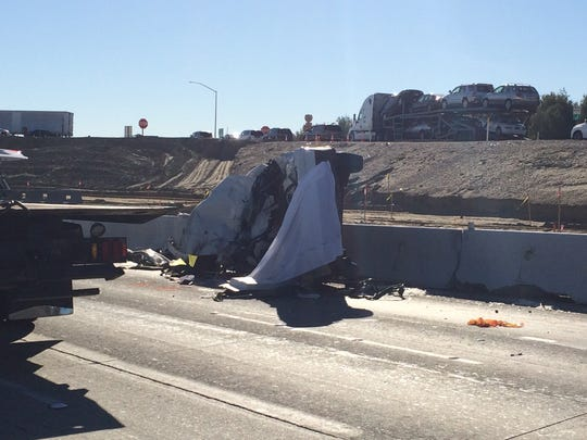 A Palm Desert woman died on Feb. 7 after a big rig struck her Volkswagen Jetta while she was trapped inside. Vehicular manslaughter charges are being recommended against the truck driver.