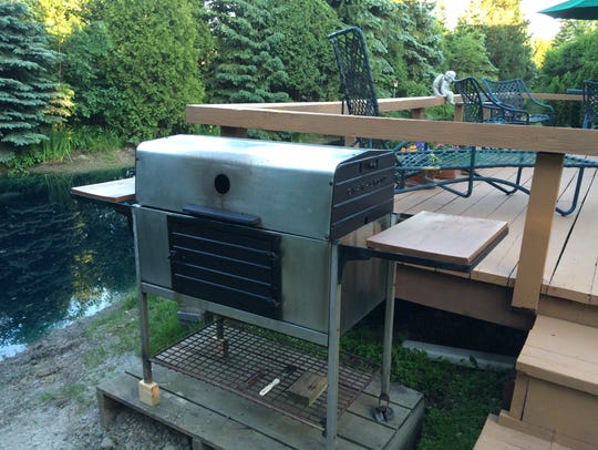 My dad's grill, purchased in 1961 and still going strong.