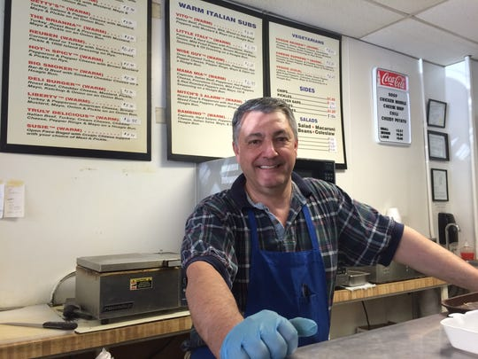 Fred Hagar, whose family owns Hagar's Manhattan Deli, is pictured.