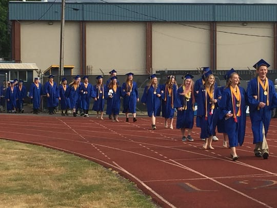 Stayton High School Class of 2016 commencement ceremony.