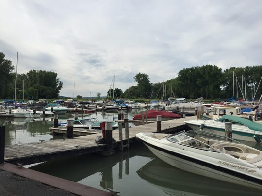 The docks at Allan H. Treman State Marine Park in Ithaca.