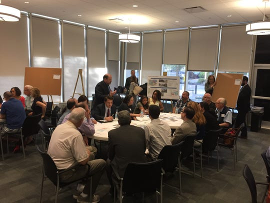 Residents talk about  concepts for the White Plains