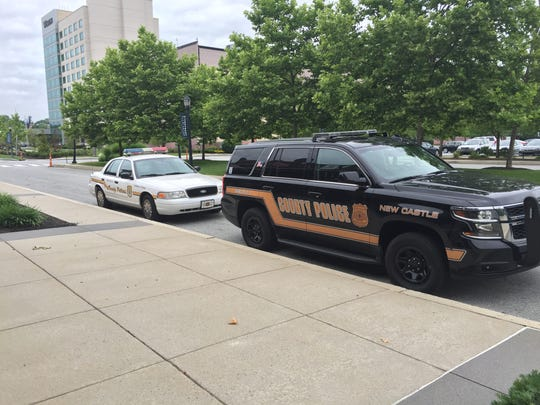 New Castle County Police cars