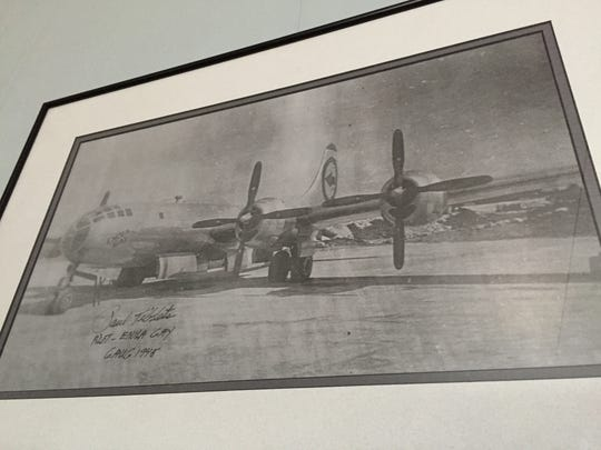 Miles Abel has a photograph of the Enola Gay that was taken by his friend, Jim Farrens, and later signed by pilot Paul Tibbets.