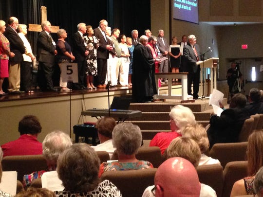 Retiring pastors were honored Monday at Northside United