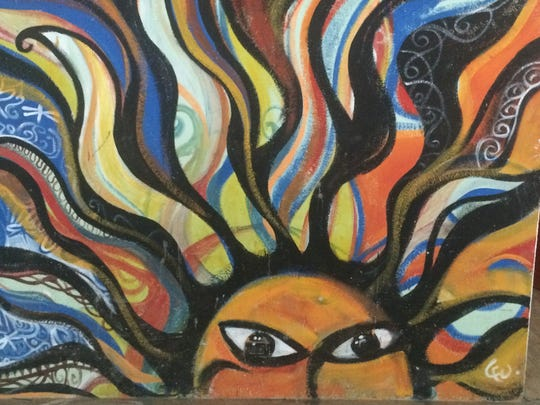 The walls of CREAR are covered with murals like this,