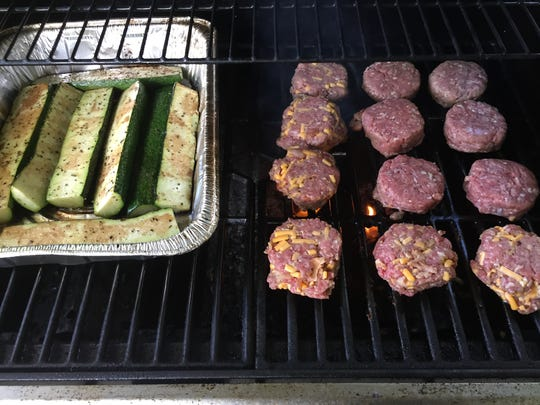 An important rule of barbecuing: Keep the meat and veggies separated.