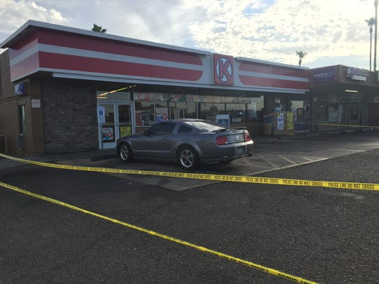 An armed customer opened fire at a robber who shot a clerk at a Circle K at 2344 W. Thomas Road on June 22, 2016.